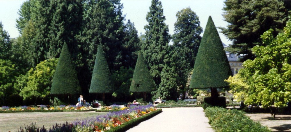 Prince Bishop Palace Garden Gumdrop Trees